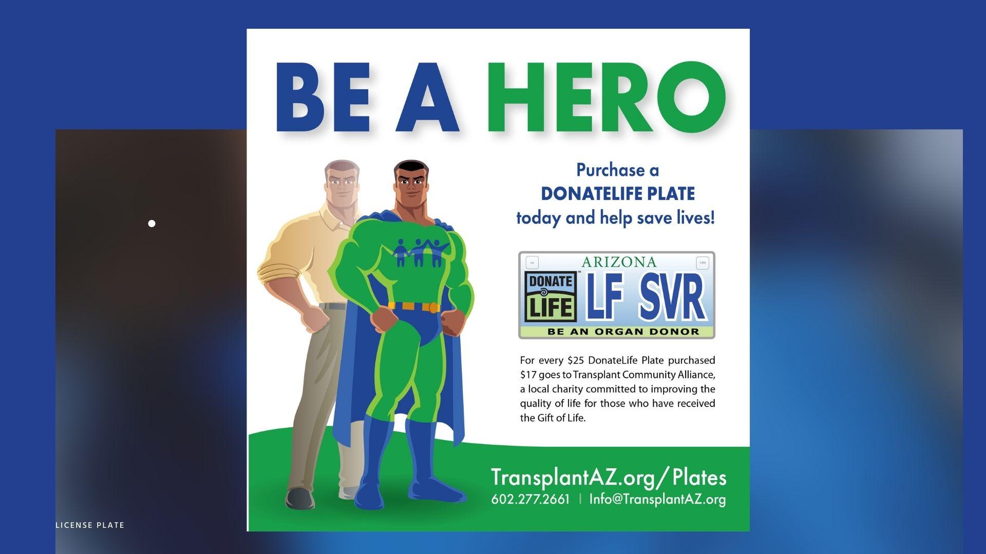 donate life lives plate hero
