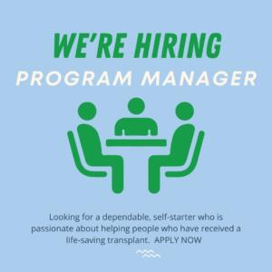 we are hiring a program manager